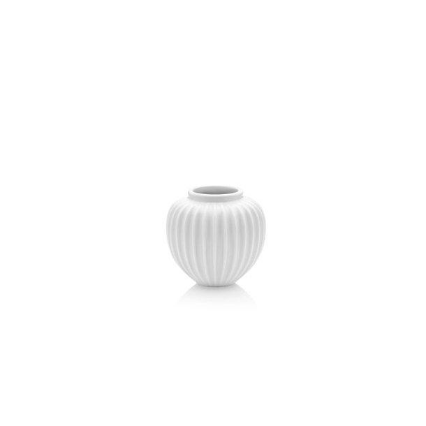 Vase rillet hvid